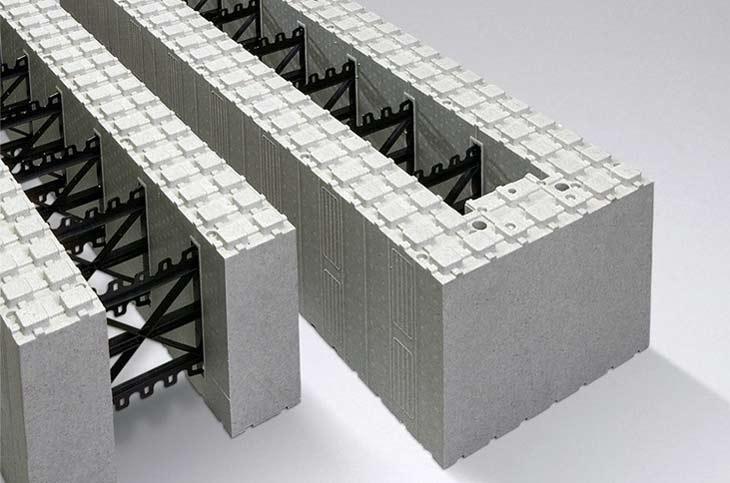 Cellplastblock vägg